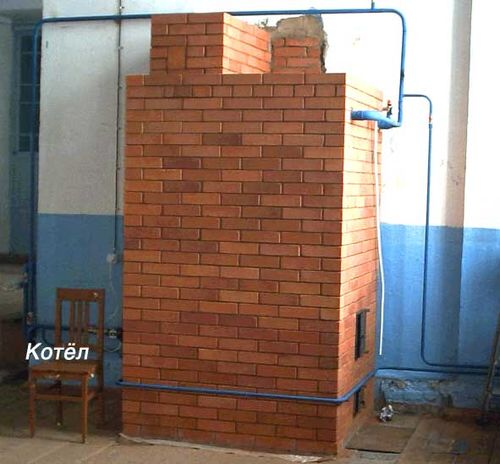 Russian stove central heating