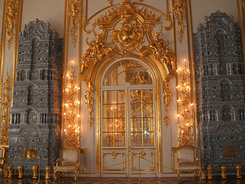 Tile stoves peterhof palace