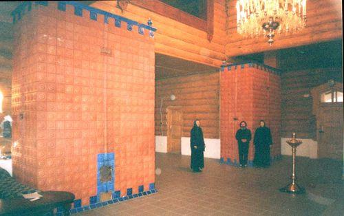 Russian stove in church 2