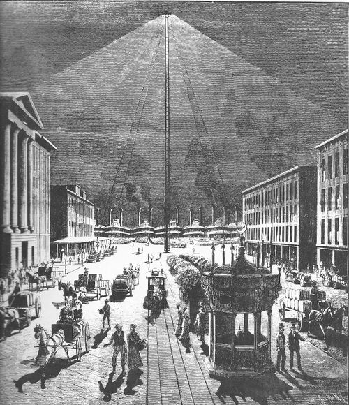 Moonlight Towers Light Pollution In The 1800s Low Tech