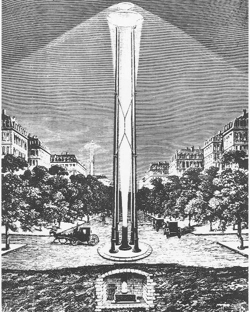 Arc light tower design that never made it