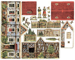 Paper art farm