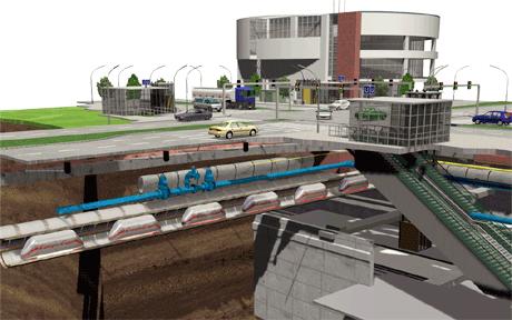 Cargo cap underground transport