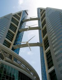 Building integrated wind