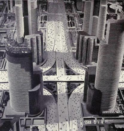 Futurama city for the motor age