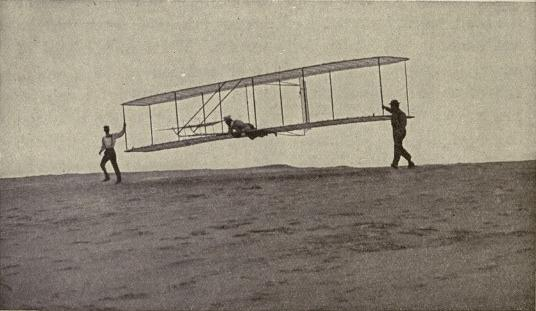 Picture starting an aeroplane