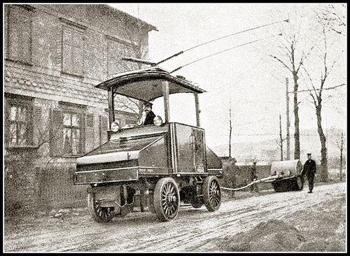 Trolleytruck roadbuilding