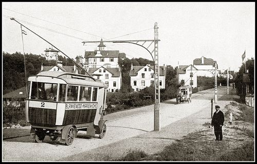 Trolleybus blankenese marienhohe