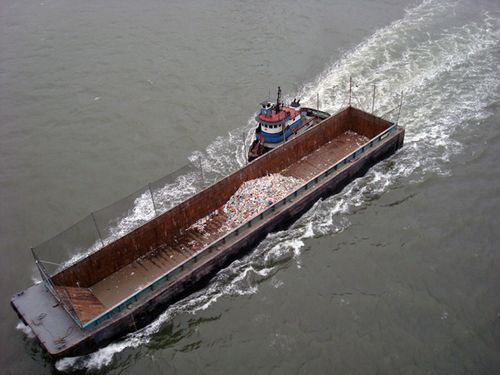 Garbage barge