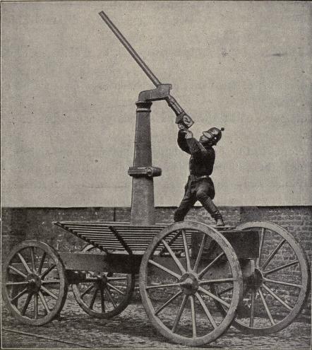 Gun constructed for firing at balloons