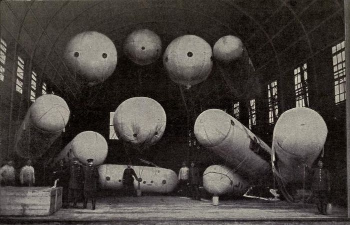 Balloons used for wireless telegraphy