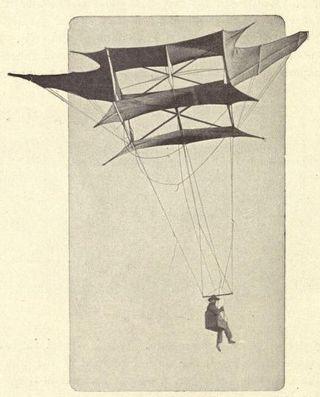 Cody's kite used as a captive balloon