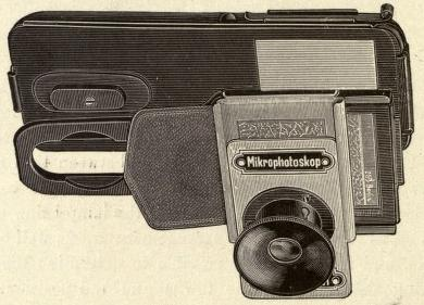 Vollbehr's microphotoscope for reading maps on a reduced scale