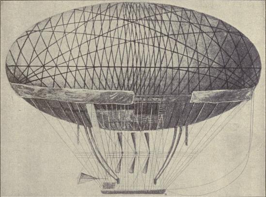 Balloon designed by General Meusnier