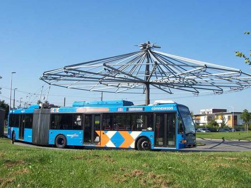 Trolleybus arnhem keerpunt