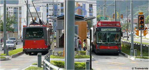Merida trolleybus