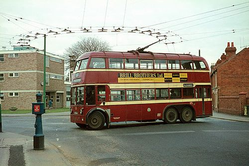 Turning point trolley bus