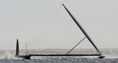 Sailrocket snelheidsrecord zeilschip