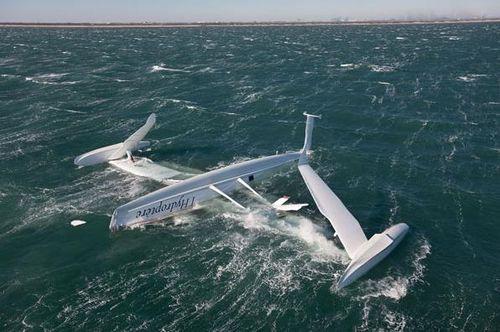 Hydroptere snelheidsrecord zeilboot