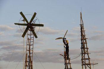 Lowtech windturbine