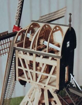 Scale model drainage mill detail