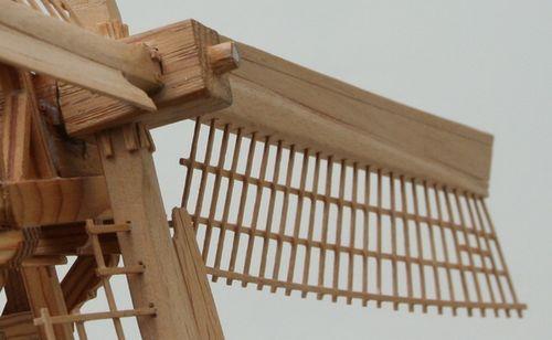 Scale model windmill sail