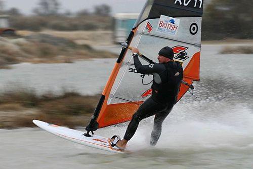 Windsurfer planeert