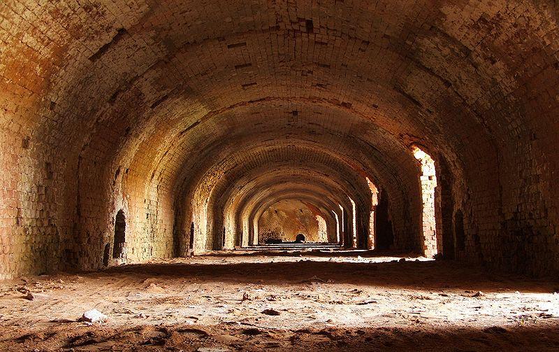 Inside of hoffmann kiln