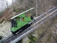 Water powered cable train