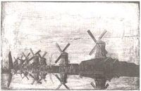 Windmills in holland 1780