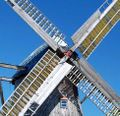 Spring sails polish windmill