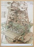 Technical drawing industrial sawing windmill