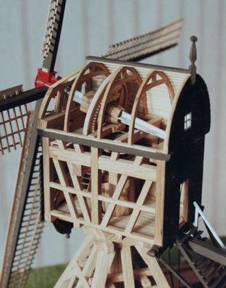 Detail schaalmodel poldermolen