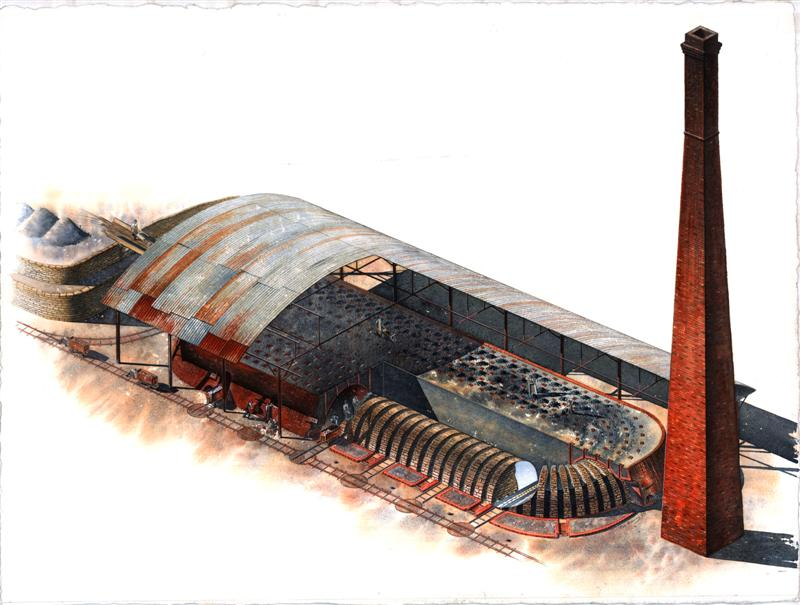 Drawing hoffmann kiln source llanymynech.org.uk