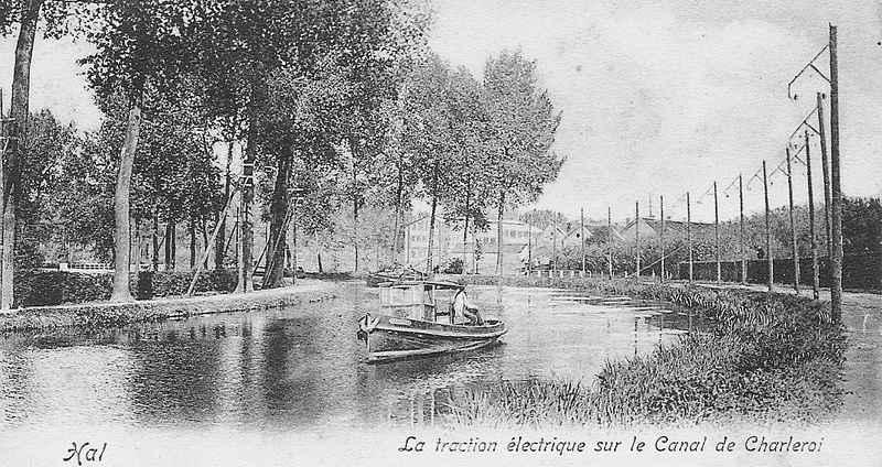 Trolley boat canal charleroi
