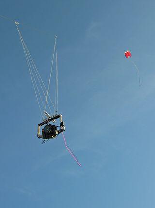 Luchtfoto's maken met kite of vlieger