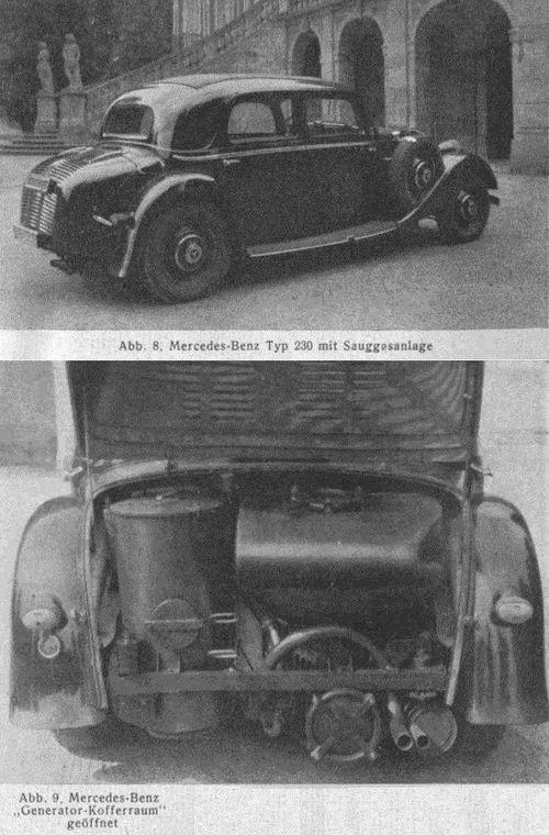 Mercedes benz woodgas