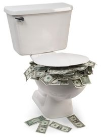 Geld doorspoelen