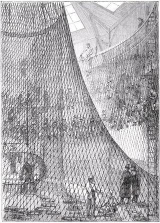 Cordage of hot air balloon
