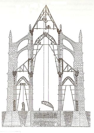 Crane gothic cathedral