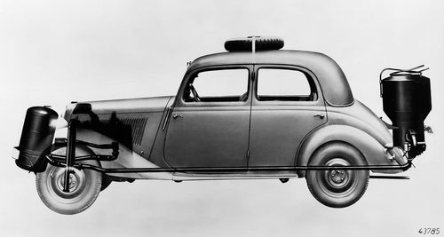 Mercedes houtgasauto 2