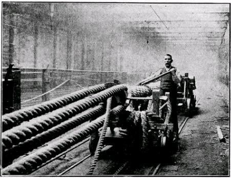 Laying a rope