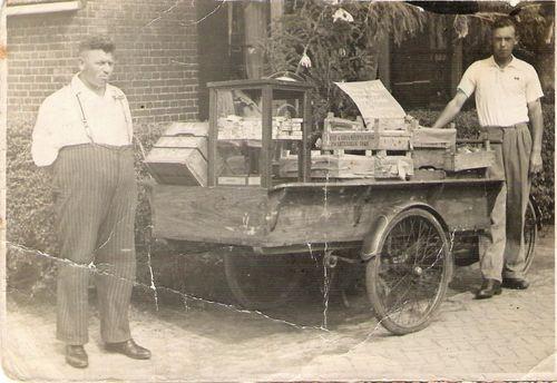 Loaded cargo trike grocery store