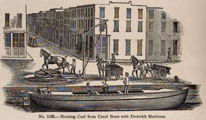 Hoisting coal from canal boats 2