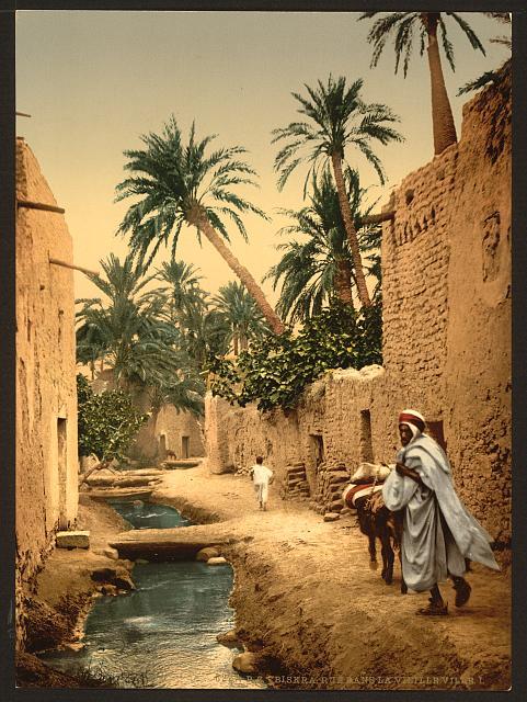Street in the old town, I, Biskra, Algeria