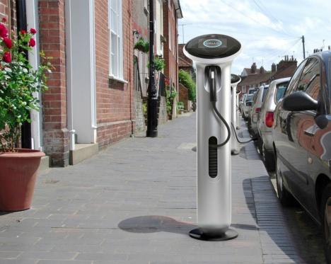 Oplaadpaal elektrische auto