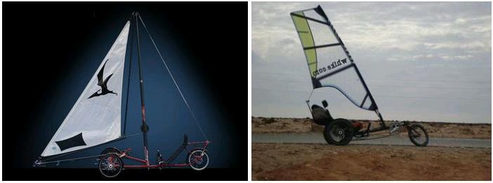 Door wind aangedreven fietsen