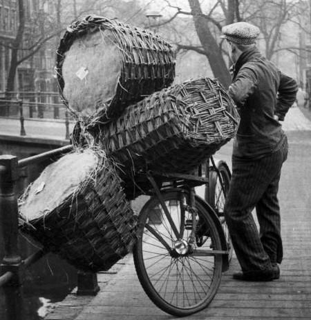 Cargo bikes with baskets amsterdam