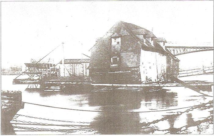 Last ship mill on the rhone