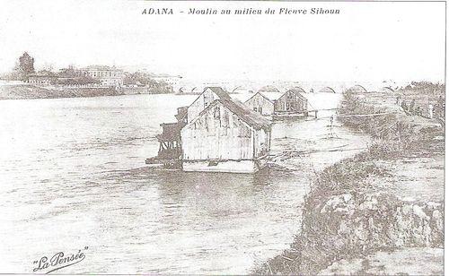 Floating mills on the adana turkey